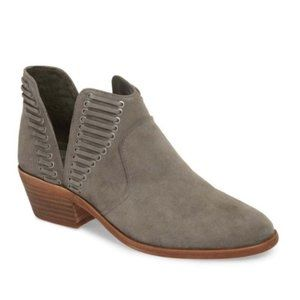VINCE CAMUTO Pevista Gray Suede Ankle Boot SZ 9